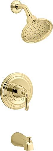 Kohler K-TS395-4G-PB Devonshire Tub Shower Trim, Polished Brass