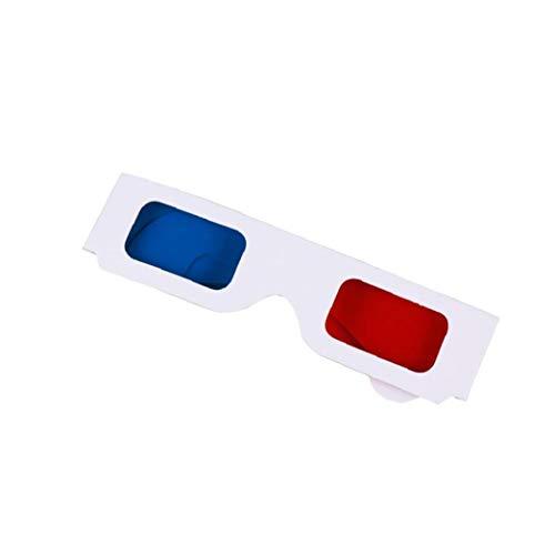 Naicasy Papier Diffraction 3D-Brille Vreativew Film 3D-Brille für Heim, Festivals, Clubs, einzigartige Kinder Party Favors (rot, blau)