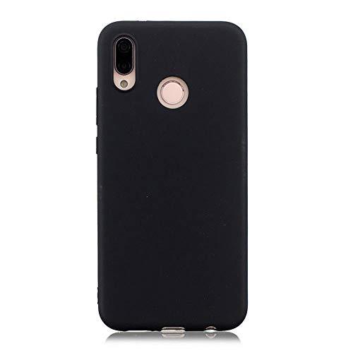 LIANLI Candy Macaron - Carcasa para Xiaomi Pocophone F1 Mi A1 A2 Lite 5X 8 SE 6X Redmi 4A 4X Note 4 5A 5 Plus 6 Pro 6A S2 Soft Cases (Color: Negro, Tamaño: Redmi Note 4X 64GB)