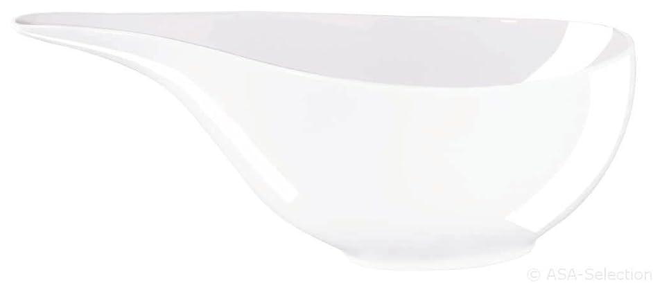 ASA 2022013?Gravy Boat, Porcelain, White, 19?x 9?x 6?cm