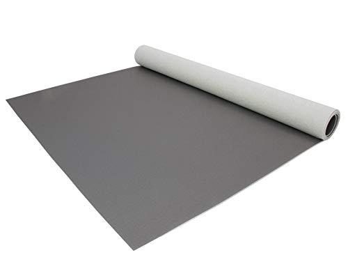 PVC Bodenbelag EXPOTOP Profi Vinylboden - 2,00m x 1,50m, Uni Grau PVC Boden Meterware Vinyl, Reflektiert Nicht, Einfarbig, Schwer Entflammbar