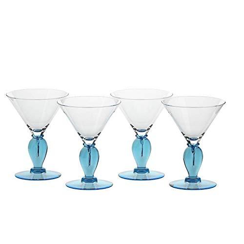 AMARA DESIGN powered by CRISTALICA vaso esclusivo lavorato a mano Vaso vaso in vetro viola collezione LUNARA 33 cm