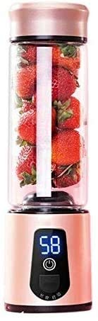 Portable Electric Juicer Blender USB Mini Fruit Mixers Juicers Fruit Extractors Food Milkshake Multifunction Juice Maker Machine 450ML (Color : -)