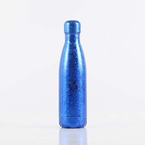Xiaobing Taza Termo Colorida de la Moda de la Pintura de la Flor del Hielo de la Taza del Regalo de la Botella de los Deportes del Acero Inoxidable 304 -D057-500ml-G739