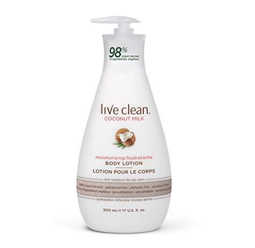 Live Clean Body Lotion, Moisturizing Coconut Milk, 17 Oz