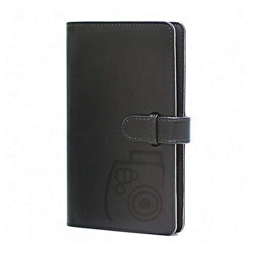96 Pockets Wallet Fotoalbum mit PU-Leder, kompatibel mit Fujifilm Instax Mini 11 / 7S / 8/8 + / 9/25/26/90/70 / 50s Sofortbildkamerafilm und Polaroid Snap. (Black)