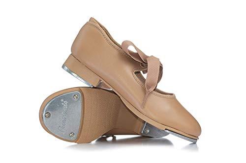 Girls'Tap Star' Ribbon Tie Elastic Tap Shoes T9015CTAN10.0W Tan 10 W US Toddler