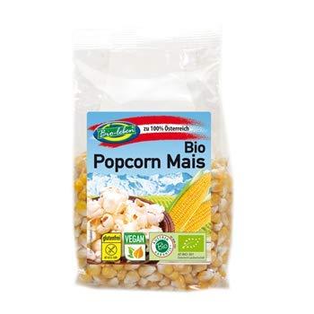 Bio-leben Österreichischer Bio Popcorn Mais 1,33kg Öko Pop Corn ganz, glutenfrei, 100% aus Österreich, ungesalzen ohne Gentechnik 7x190g