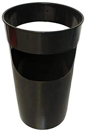 Paraguero de plastico 45 x 27 cm ,Soporte paraguas de plástico, Paraguero redondo,Ideal tanto para hogar como para zona de publico. (Negro)