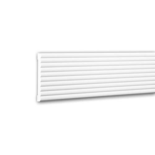 PRO[f]home® - Moldura para pared 151374 Perfil de estuco Moldura decorativa Moldura friso diseño moderno blanco 2 m
