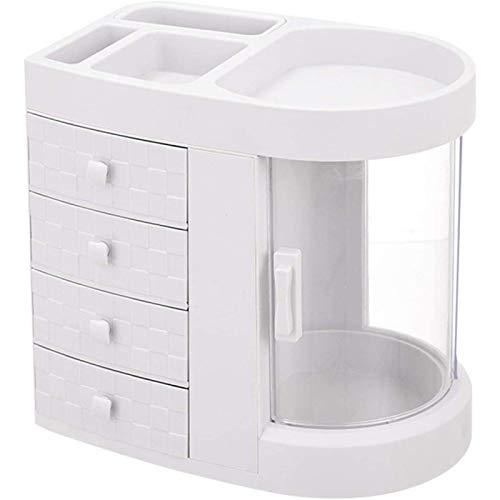 ZHANG Kosmetikbox Schmuck Aufbewahrungsbox mit Schubladen, Badezimmerschrank mit 4 Schubladen und 7 Fächern