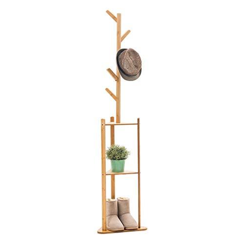 POETRY Perchero de Piso Simple Perchero de bambú Creativo Europeo Perchero Moderno Minimalista Pasillo Dormitorio Perchero