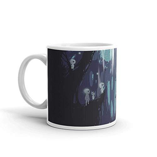 Lsjuee Kodama Spirit Mug 11 Oz White Ceramic