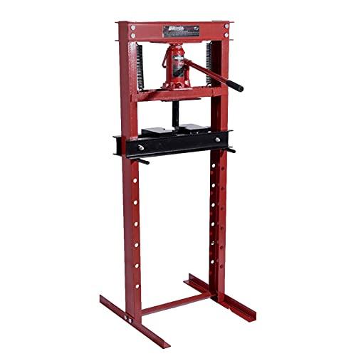 Prensa de taller manual con muelles de alta precisión, prensa hidráulica de 4,5 toneladas, marco en H y diseño guía para bloques en V, capacidad de carga de 10000 libras, para vehículos todoterreno