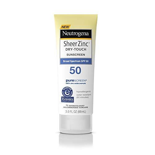 Neutrogena Sheer Zinc Dry Touch Spf#50 Sunscreen 3 Ounce (88ml) (2 Pack)