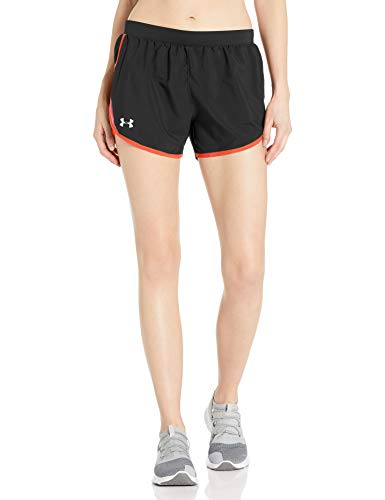Under Armour Women's Fly By 2.0 Running Shorts , Black (007)/Reflective , Medium