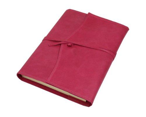 Papuro Milano Nachfülleinlage für Italienisches Raspberry Pink Leder Adressbuch–15x 21cm