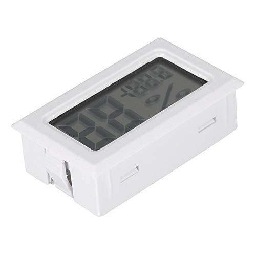 Asixxsix Termómetro para Interiores Muy preciso y Duradero, Negro/Blanco, termómetro de Humedad Estable, para el hogar, para incubadoras, criadoras de Tanques de Reptiles(White)