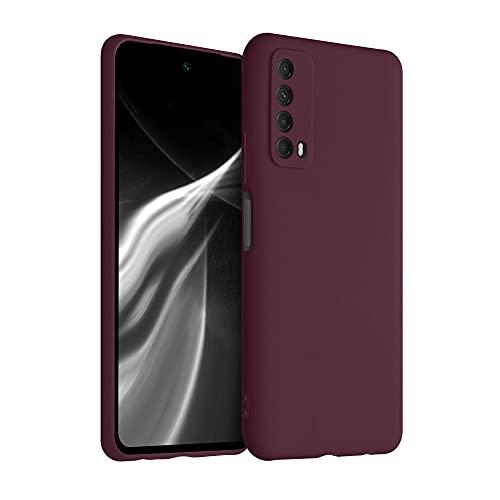 kwmobile Hülle kompatibel mit Huawei P Smart (2021) - Hülle Silikon - Soft Handyhülle - Handy Hülle in Tawny Red