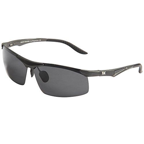 Jimmy Orange -  Occhiali da sole - Uomo Nero gray frame black lenses
