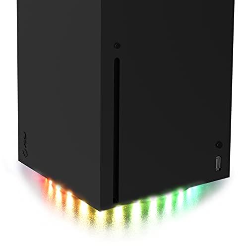 LED-Lichtleiste für Xbox-Serie X-Konsole, RGB-LED-Licht mit 7 Farben, 358 Effekte, 5050 Lichtstreifen mit flexiblem Klebeband, DIY-Dekoration, Zubehör für Xbox-Serie X-Konsole mit IR-Fernbedienung