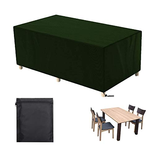 Rattan Furniture Cover, dining set cover garden, Extra Large Patio Cover, Wind Proof, for Furniture Protection, Green - 78x62.4x27.3in(LxWxH)