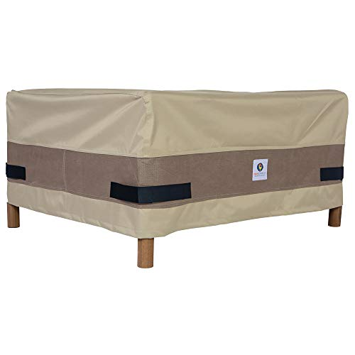 Duck Covers Elegant Water-Resistant 32 Inch Rectangular Patio Ottoman/Side Table Cover