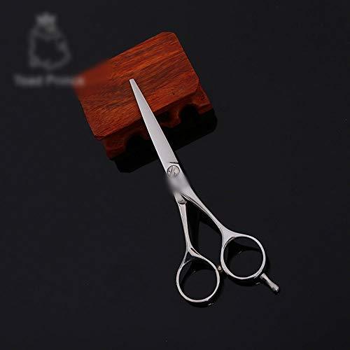 SUIWO Friseurscheren Edelstahl Scissor for Haar-Qualitäts-6-Zoll-Friseur Professionelle Haircut Flach Shear (Farbe : Silver)