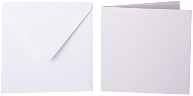 100 quadratische Briefumschläge 100 x 100 100 100 mm Weiß mit Dreieckslasche, 100g  100 Faltkarten 95x95 mm, 240g, Farbe  30 Pastellflieder B015POKCVM | Abrechnungspreis  | Online-Shop  | Modernes Design  200425