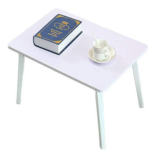 LVZAIXI Lit avec Plateau de Lecture portatif Pliable de Service de Petit déjeuner de Table d'ordinateur Portable de Table, 3 Couleurs facultatives (Couleur : Blanc)