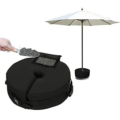 NGLSCXR Pesos de base de parasol, paraguas de patio Bases de pesas, Patio impermeable desmontable Pesos Pesos Pesos Bolsas de arena, bolsas de arena de servicio pesado con asas, para jardín de playa a