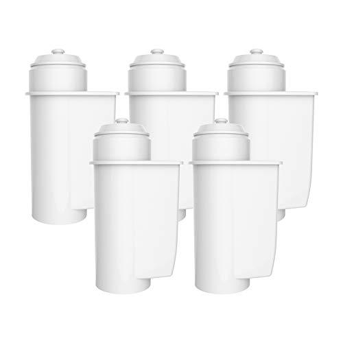 AquaCrest AQK-01 Kompatibler Kaffeemaschinenwasserfilterersatz für Brita Intenza; Siemens TZ70033, TCZ7003, EQ. Serie; Bosch 12008246 - einschließlich verschiedener Modelle von Neff & Gaggenau (5)
