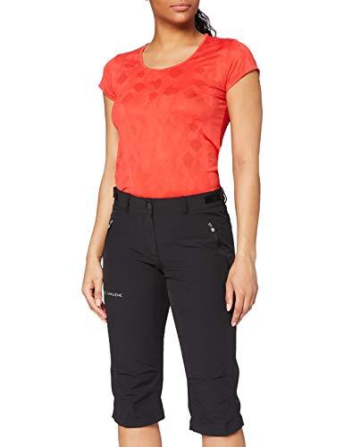 Vaude Damen Hose Women's Farley Stretch Capri II, Black, 42, 04578
