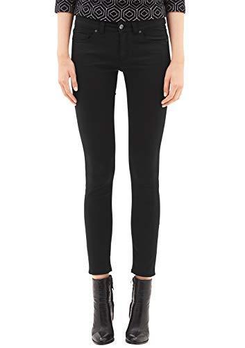s.Oliver BLACK LABEL Damen 1899713916 Skinny Jeans, True Black, 42 Herstellergröße 32 EU