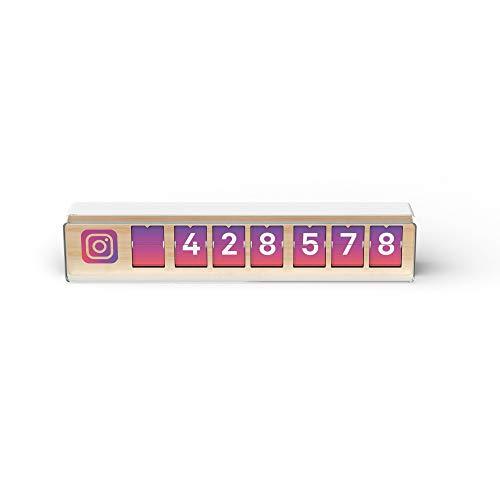 Instagram Follower Counter 7-stellig | Social Media Fan Zähler für Geschäfte | Restaurants, Hotels, Bars, Kinos, Fitness-Studios
