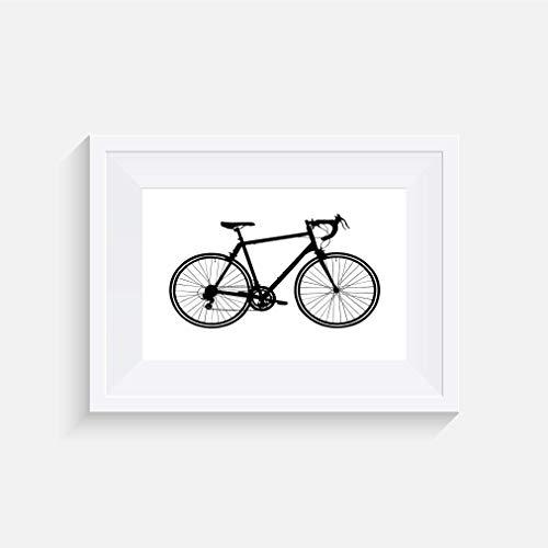 Rennen Fahrrad Inspirier - Drucken - Poster - Graustufen - Wandkunst- verschiedene Größen(Rahmen Nicht Inbegriffen)