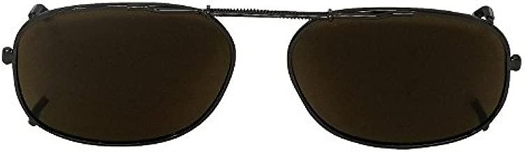 Eyelevel Clip-On - Gafas de sol ajustables SP-1 polarizadas con lentes de color marrón Cat-2 UV400
