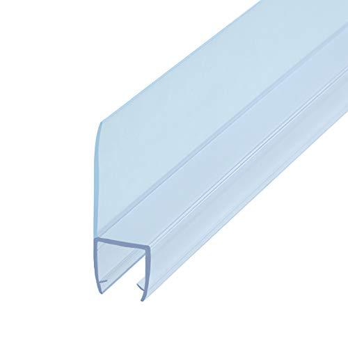 ZHTY Sello de Ducha Forma de h para Ventana de Vidrio de balcón sin Marco y Puertas corredizas,Espesor del Vidrio 6 mm,8 mm,10 mm,12 mm Longitud 1 m (2 Piezas)