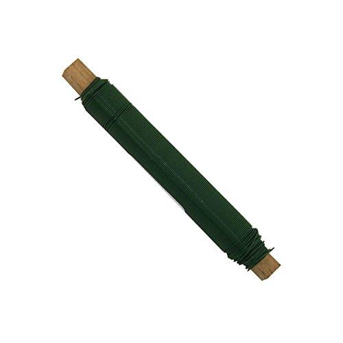 Xclou Fil à lier les fleurs vert - Fil pour décoration florale en acier galvanisé - Fil de fer pour art floral Ø 0,65 mm - Bobine de fil résistant 60 m