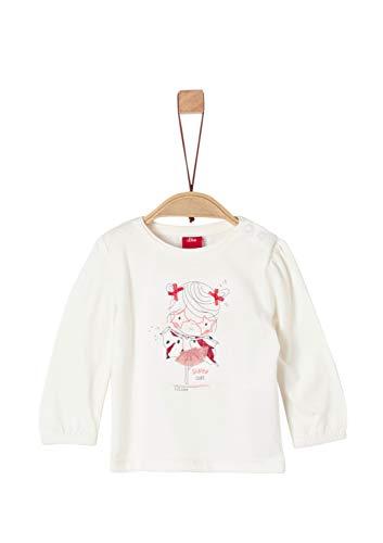 s.Oliver Baby-Mädchen 65.908.31.8700 Langarmshirt, Weiß (White 0210), (Herstellergröße: 68)