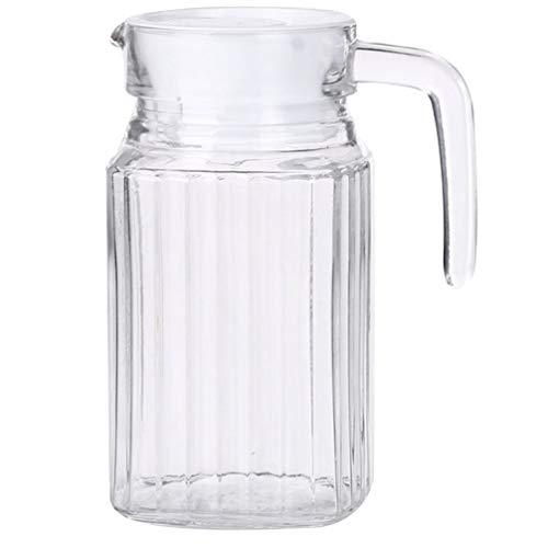 HEMOTON Jarra de Agua de Gran Capacidad Jarra con Tapa Té Helado Botella de Jugo de Agua Fría Jarra de Bebida Fría para Fiesta en Casa 0. 5L