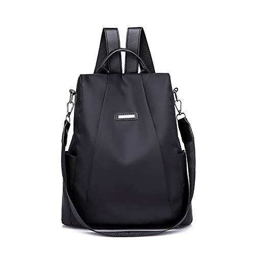 Mochilas Casual de Personalidad de Moda Antirrobo Paquete de Viaje y Ocio para Mujeres y Chicas Diario Messenger Bag Backpack (Negro)