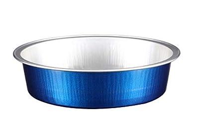 "KEISEN 4 2/3"" 8oz 215ml 24/PK Disposable Aluminum Foil Cups for Muffin Cupcake Baking Bake Utility Ramekin Cup"