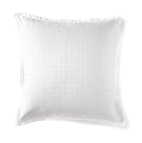 Blanc des Vosges Taie carrée Palace Blanc 65 x 65 cm - Satin jacquard 100% coton