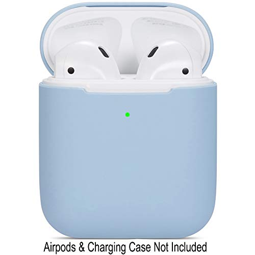 Compatible Airpods Case, Protective Ultra-Thin Soft Silicone Shockproof Non-Slip Protection Accessories Cover Case for Apple Airpods 2 & 1 Charging Case - Light Blue