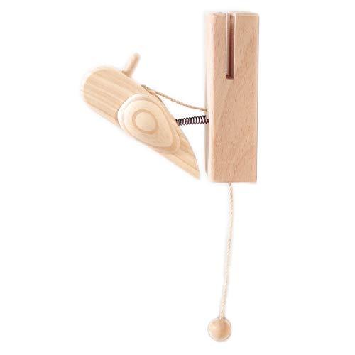 Holzvogel mit Schnur. Knock Knock Geräusch.Woodpecker Ca 11 cm. Kinder Geschenk Spiel