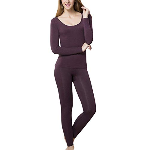 Donna Biancheria Intima Funzionale Set Manica Lunga Rotondo Collo Body Shaping Termo Top E Leggings...