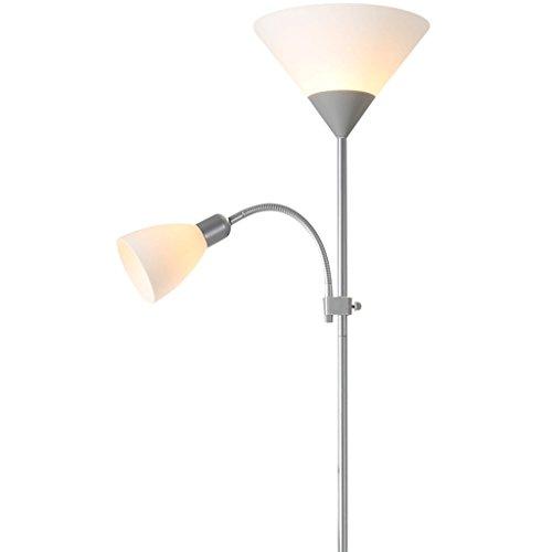 Lamparas de pie La lámpara de pie vertical del hierro creativo, estudio moderno simple del dormitorio LED sofá estudia la iluminación decorativa Lámpara de piso