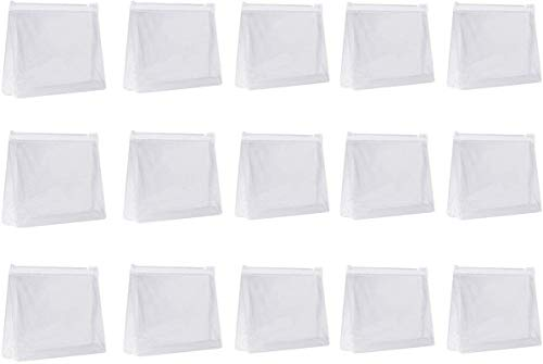 15 bolsas pequeñas de plástico transparente de PVC con cierre de cremallera para viajes, baño y organización bolsa de maquillaje impermeable