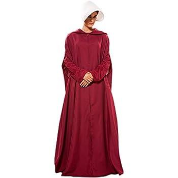 EUROCARNAVALES Disfraz de Capa de Criada Granate para Mujer ...